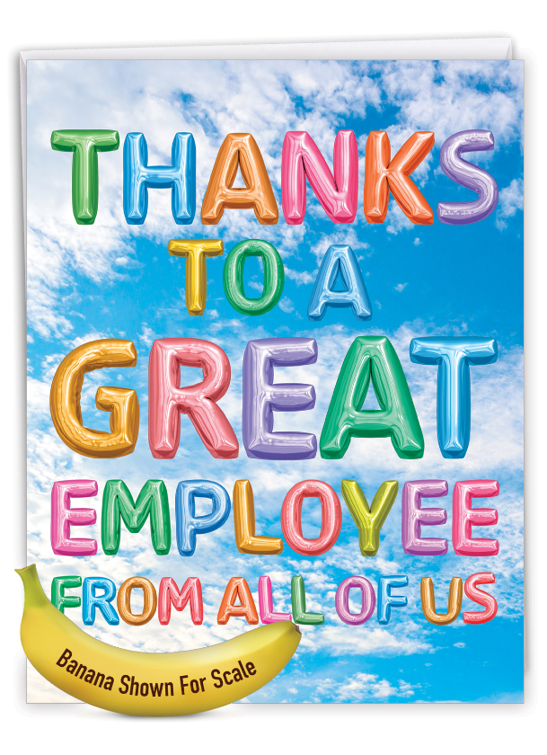 Inflated Messages - Employee: Stylish Administrative Professionals Day Extra Large Paper Card