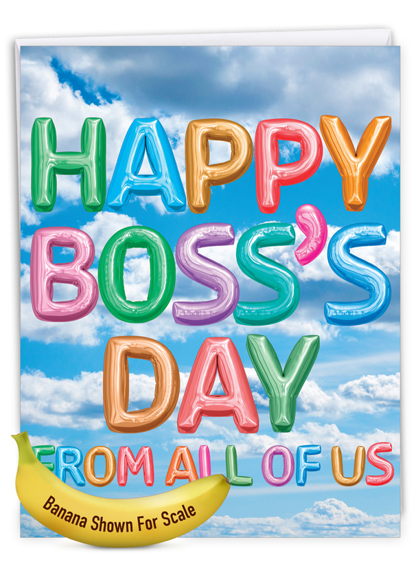 Inflated Messages - Boss's Day: Stylish Boss's Day Extra Large Paper Card