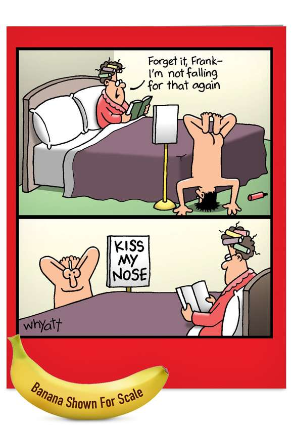 Kiss My Nose Card