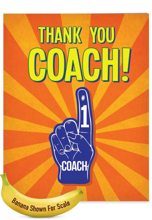 Thank You Coach From All: Hilarious Thank You Jumbo Greeting Card