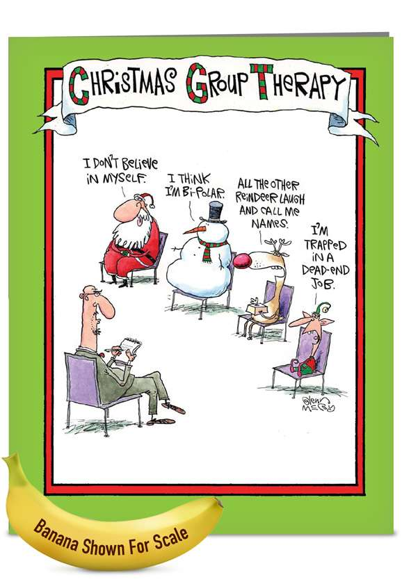 Group Therapy: Hysterical Christmas Jumbo Paper Card