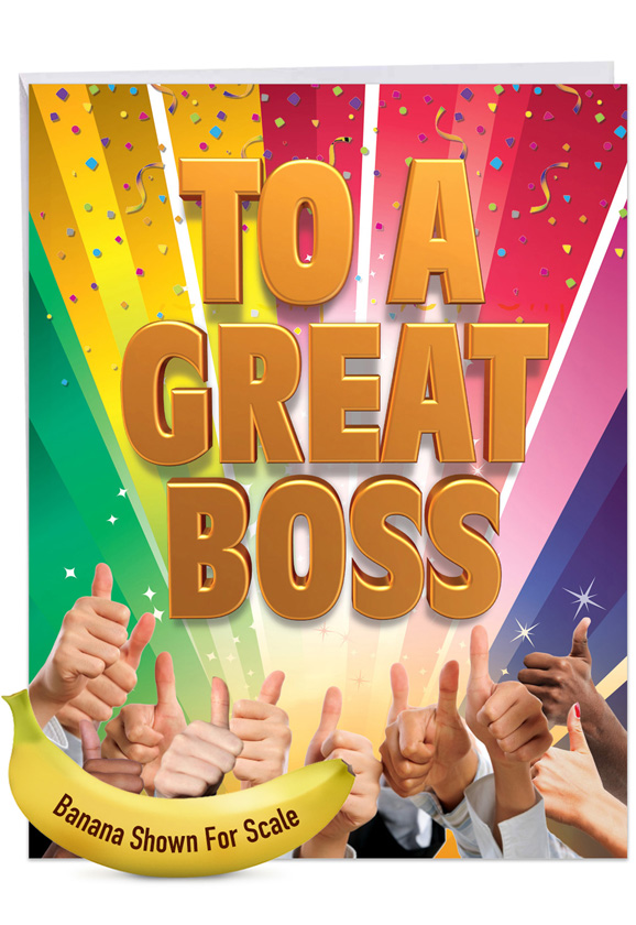 Great Boss From All: Humorous Boss's Day Big Card