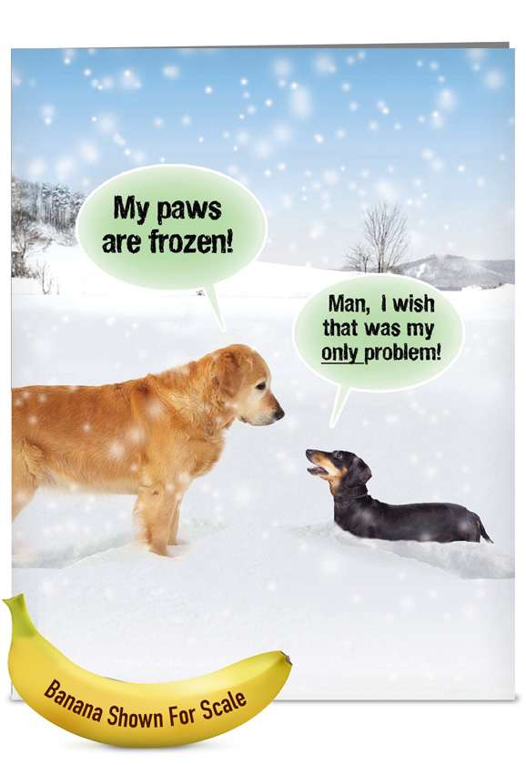 My Paws Are Frozen: Hysterical Christmas Jumbo Greeting Card