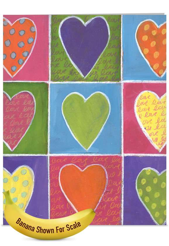 From The Heart: Stylish Mother's Day Jumbo Printed Greeting Card