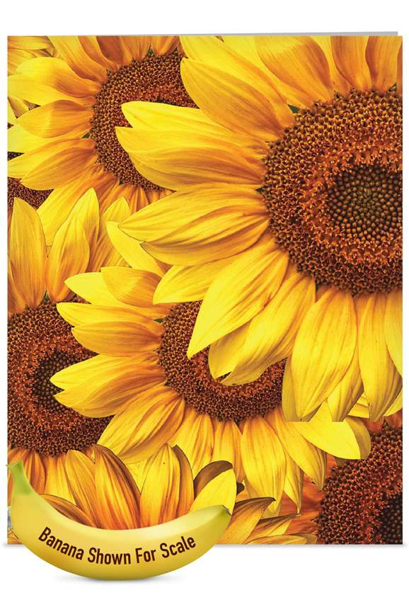 Sunny Side Up: Creative Mother's Day Jumbo Paper Greeting Card