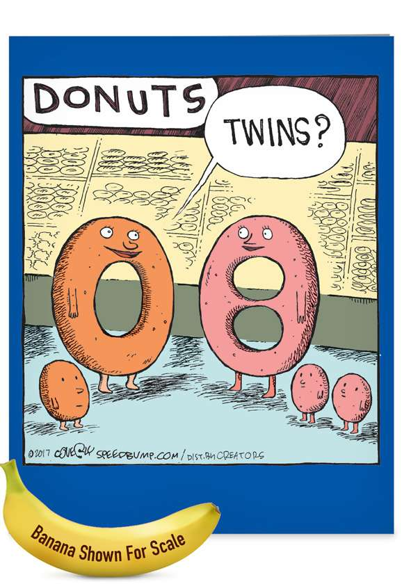 Donut Twins: Hysterical Baby Jumbo Greeting Card
