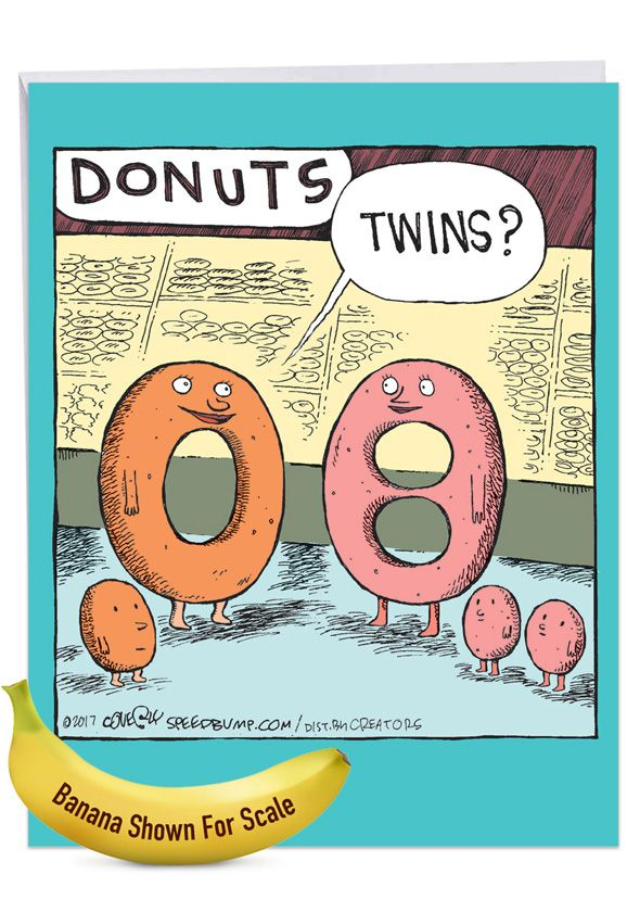 Donut Twins: Humorous Baby Extra Large Paper Card