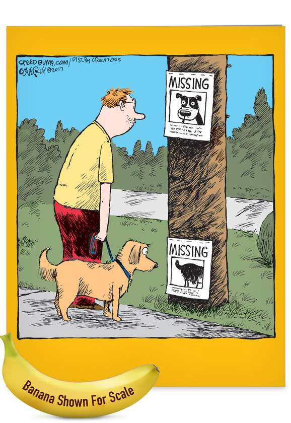 Missing Signs: Hilarious Miss You Jumbo Paper Greeting Card