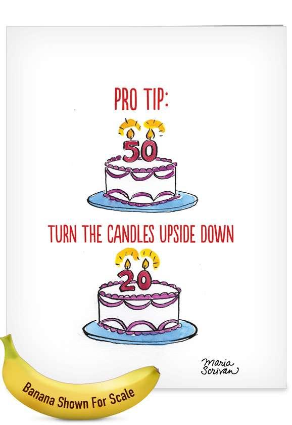 Pro Tip: Hilarious Birthday Jumbo Greeting Card