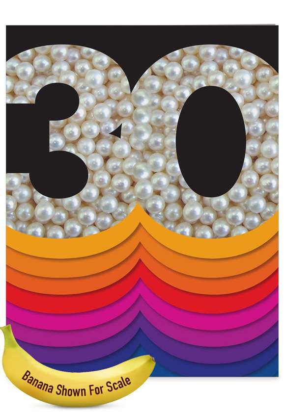 Bold Milestones - 30th Anniversary: Stylish Anniversary Extra Large Paper Card