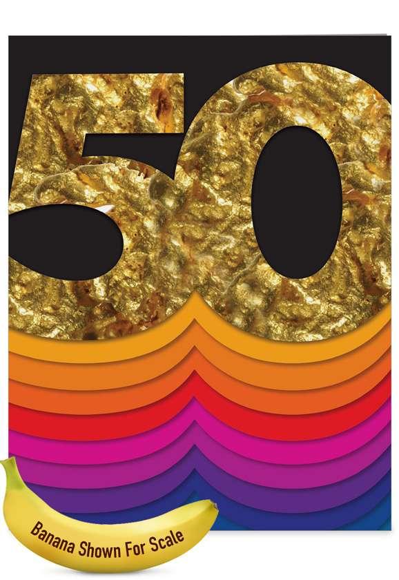 Bold Milestones - 50th Anniversary: Stylish Anniversary Big Card