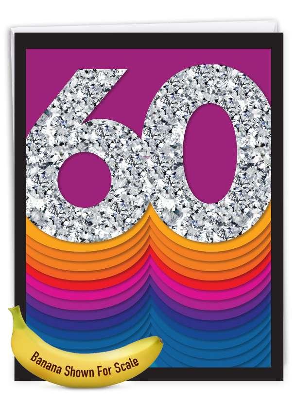 Bold Milestones - 60: Stylish Milestone Anniversary Big Card