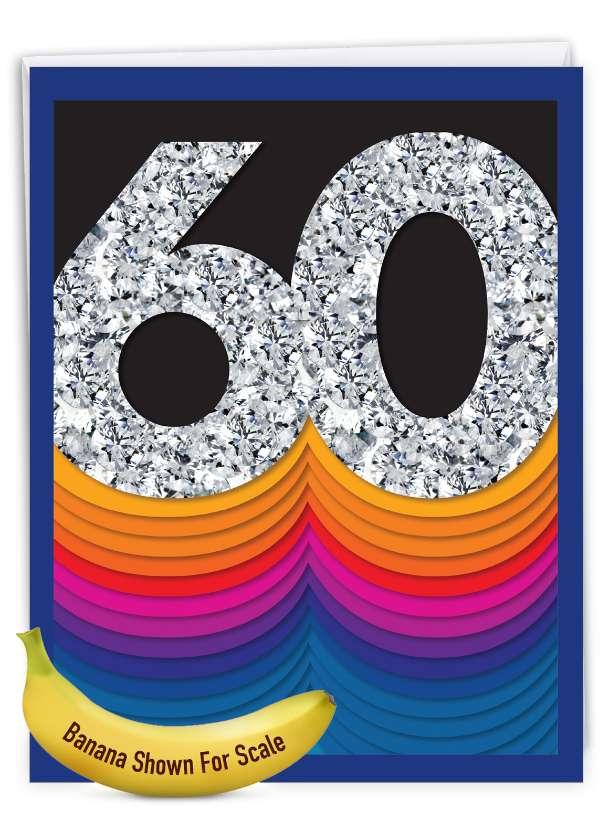 Bold Milestones - 60: Creative Milestone Birthday Large Greeting Card