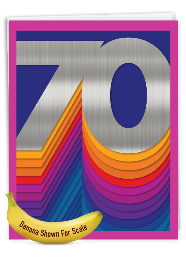 Bold Milestones - 70: Stylish Milestone Birthday Extra Large Paper Card