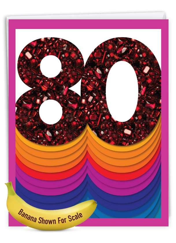 Bold Milestones - 80: Creative Milestone Birthday Giant Printed Card