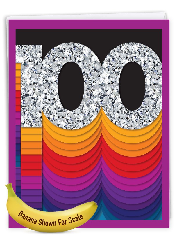 Bold Milestones - 100: Creative Milestone Birthday Jumbo Printed Greeting Card