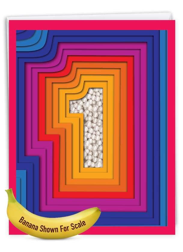 Bold Milestones - 1: Stylish Milestone Anniversary Big Card