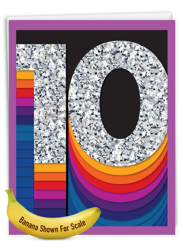 Bold Milestones - 10: Stylish Milestone Anniversary Extra Large Paper Card