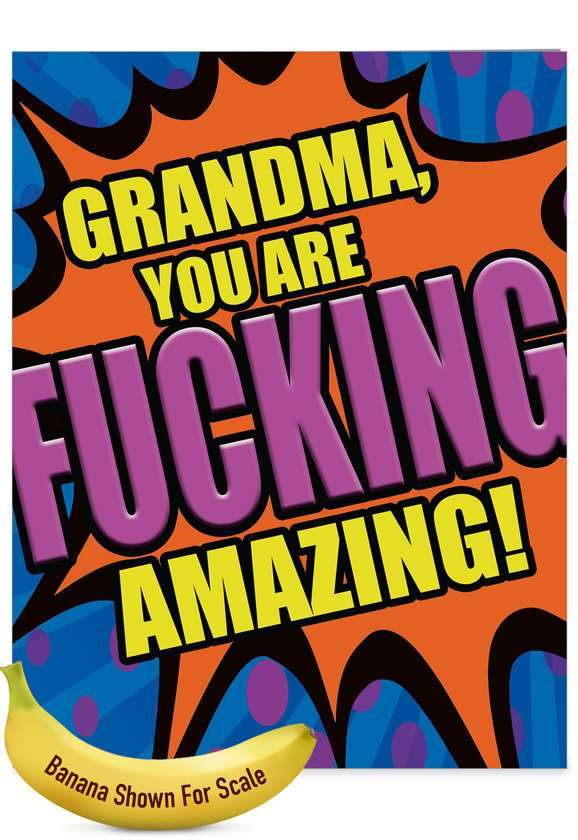 Fucking Amazing Grandma: Hysterical Mother's Day Grandma Giant Printed Card