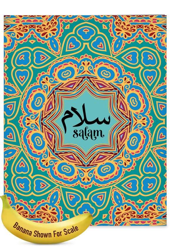 Salam Sentiments: Creative Friendship Blank Large Greeting Card