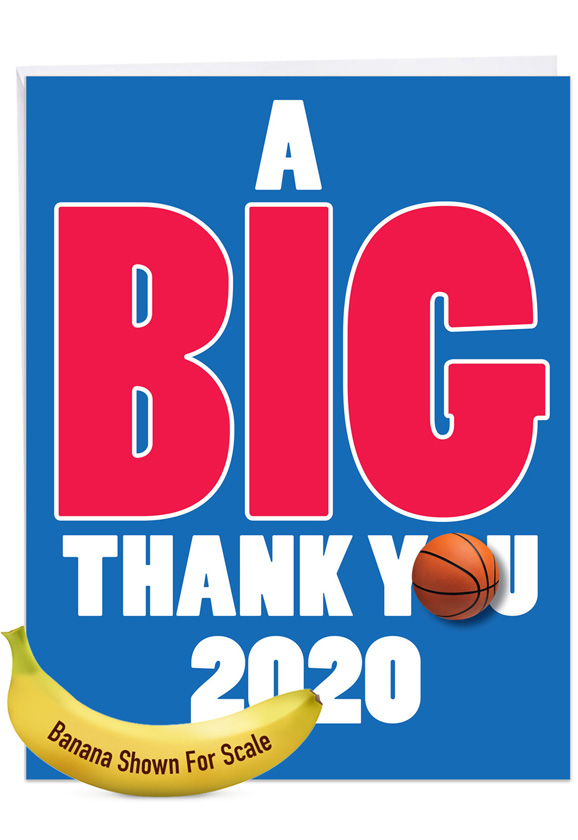 Basketball - 2020: Hysterical Graduation Thank You Large Greeting Card