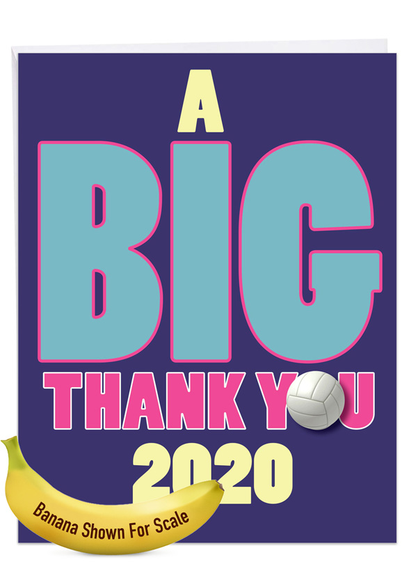 Volleyball - 2020: Funny Graduation Thank You Extra Large Paper Card