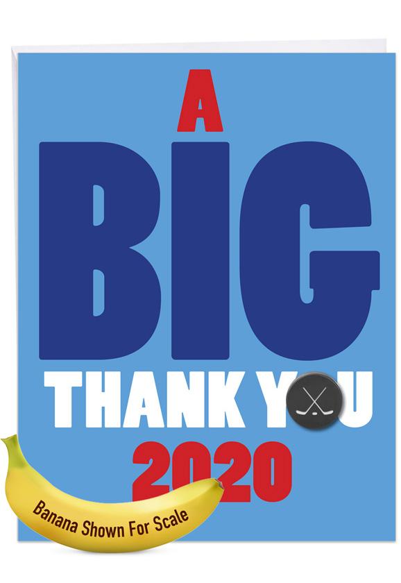 Hockey - 2020: Hilarious Graduation Thank You Large Greeting Card
