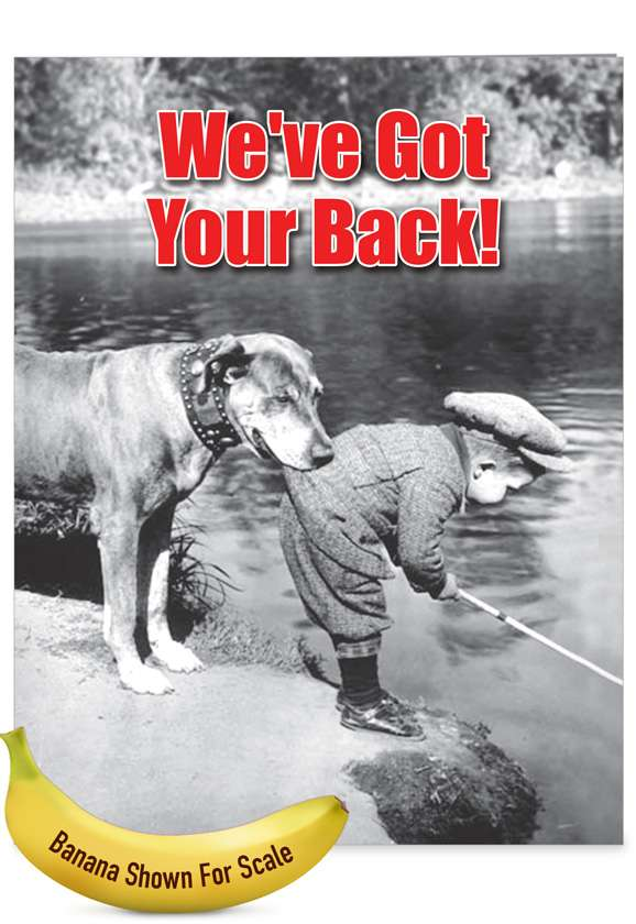Got Your Back: Hilarious Friendship Large Greeting Card