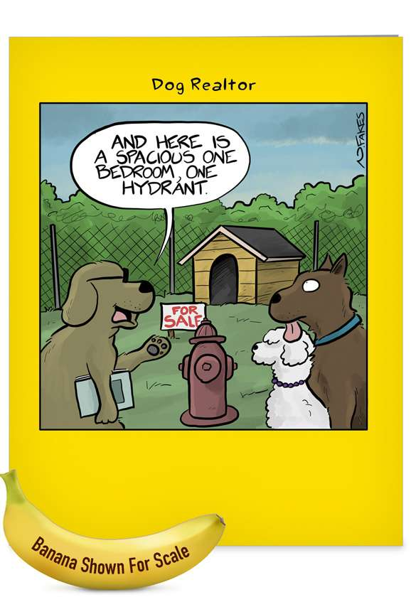 One Hydrant: Hilarious New Home Giant Printed Card
