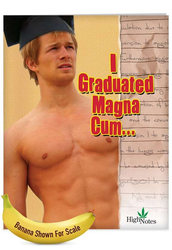 Magna Cum Loudly: Humorous Graduation Jumbo Greeting Card