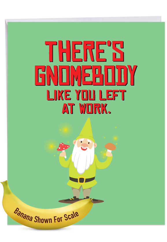 Friendly Garden Gnomes: Creative Retirement Large Greeting Card