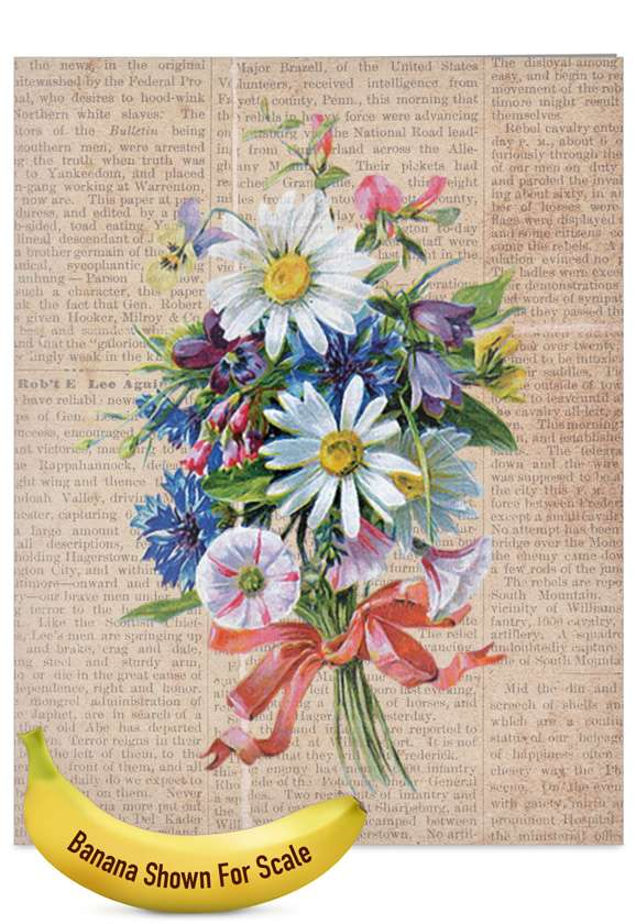 Flower Press: Stylish Mother's Day Jumbo Printed Card