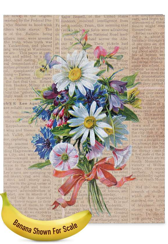 Flower Press - Teacher TY: Stylish Teacher Thank You Over-sized Paper Greeting Card