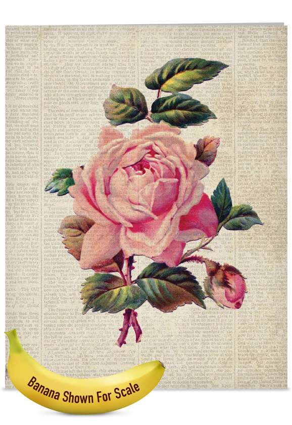 Flower Press: Creative Mother's Day Jumbo Printed Card