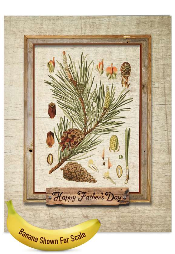 Pining For You: Creative Father's Day Jumbo Printed Greeting Card