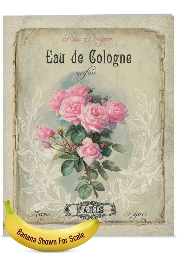 Vintage Perfume: Creative Mother's Day Jumbo Printed Card