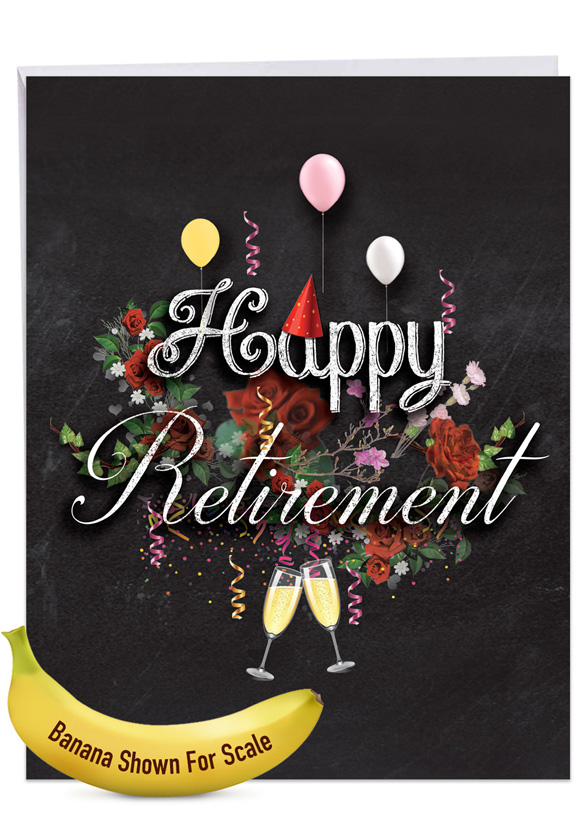 Chalk and Roses - Retirement: Creative Retirement Giant Printed Card