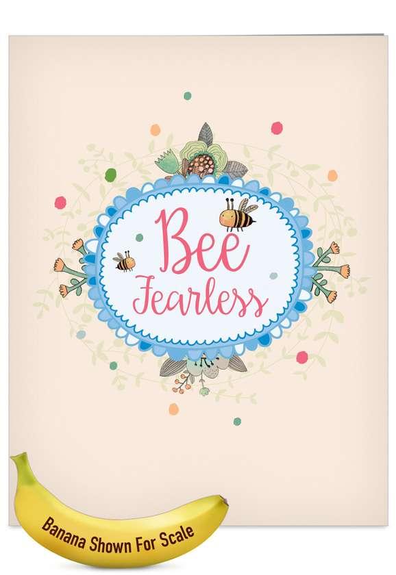 Let It Bee: Stylish Graduation Jumbo Paper Card