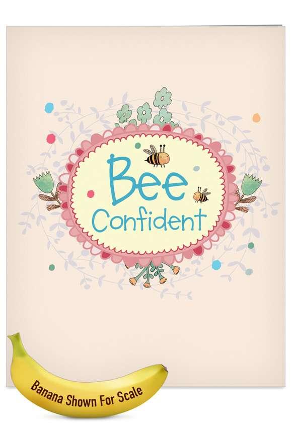 Let It Bee: Creative Graduation Jumbo Greeting Card