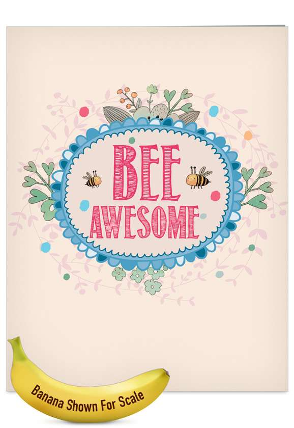 Let It Bee: Stylish Graduation Jumbo Printed Card