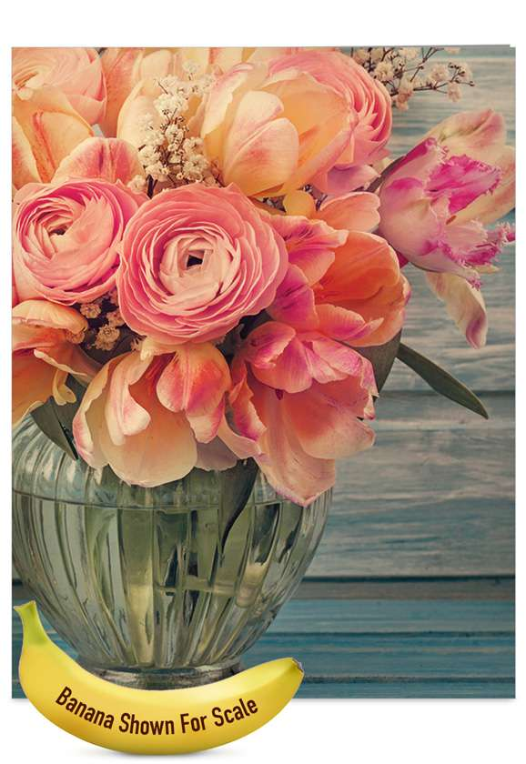 Full Blooms: Stylish Mother's Day Jumbo Printed Greeting Card