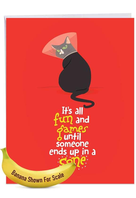 Catty Cards: Creative Get Well Jumbo Printed Greeting Card