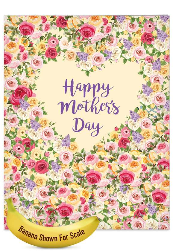 Heartfelt Thanks: Creative Mother's Day Jumbo Printed Greeting Card