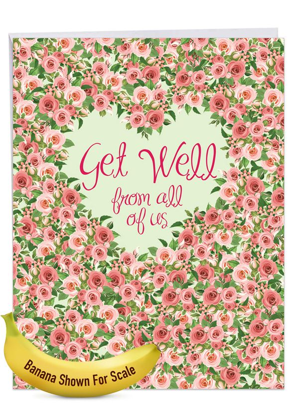 Heartfelt Thanks: Creative Get Well Large Greeting Card