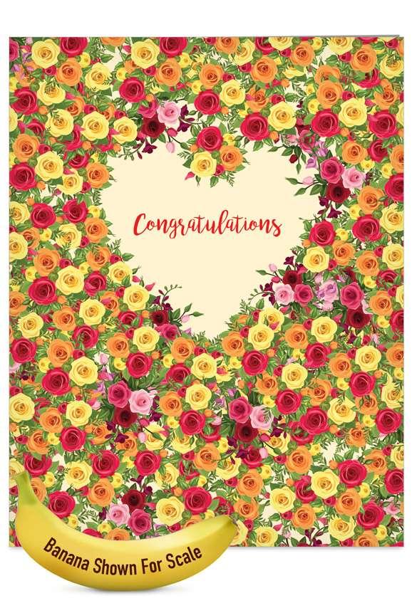 Heartfelt Thanks: Stylish Engagement Jumbo Printed Card