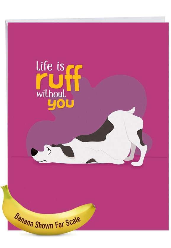 Doggone Awesome Notes: Stylish Miss You Extra Large Paper Card