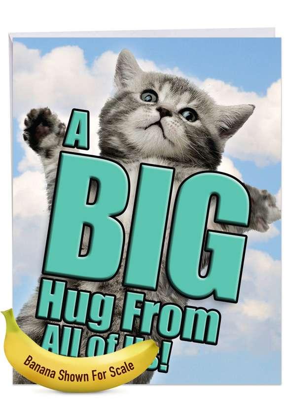 Cat A Big Hug Jumbo Card