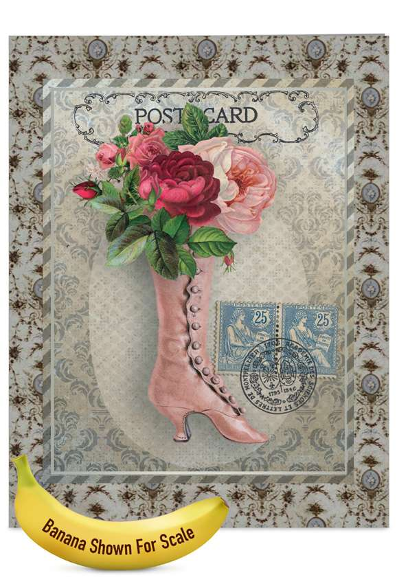 Vintage Kicks: Stylish Mother's Day Jumbo Paper Card