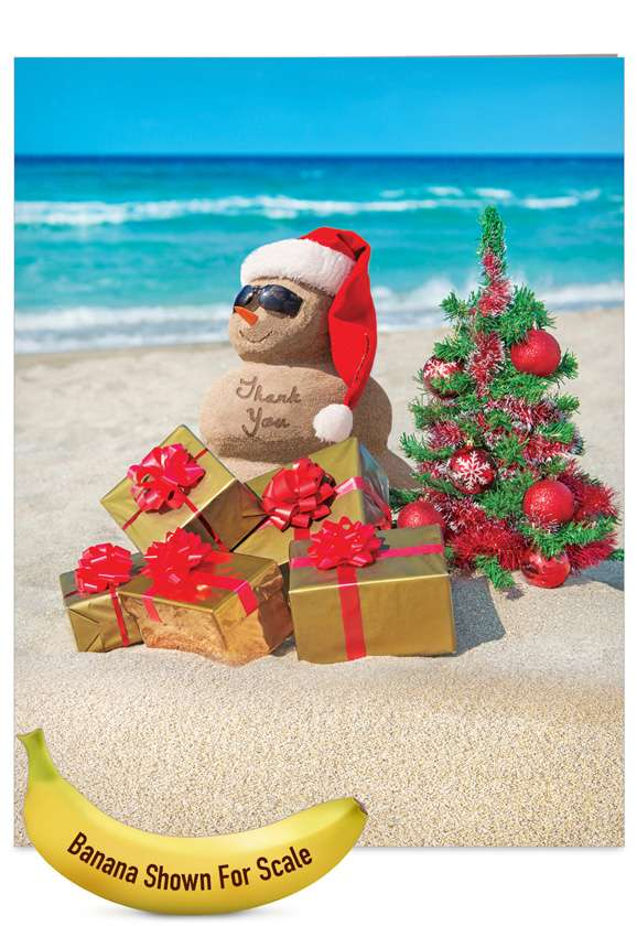 Season's Beachin': Stylish Blank Jumbo Greeting Card