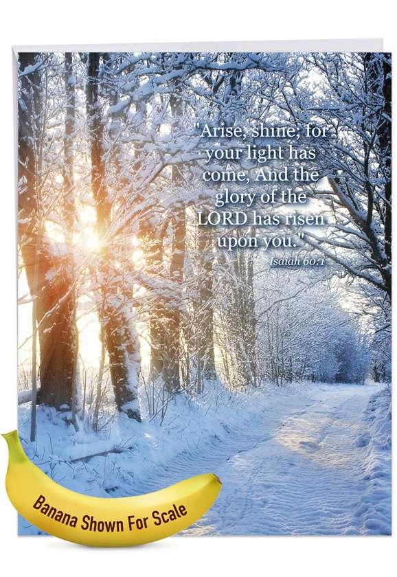 Winter Sunrise - Isaiah 60:1: Creative Congratulations Giant Printed Card